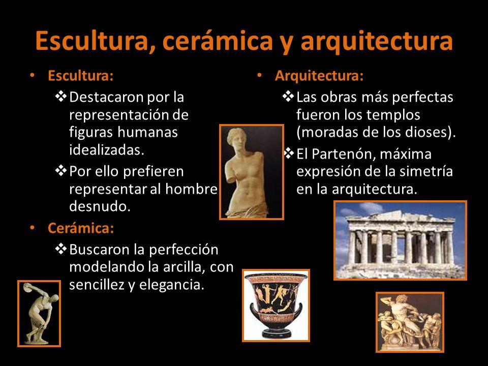 Escultura, cerámica y arquitectura