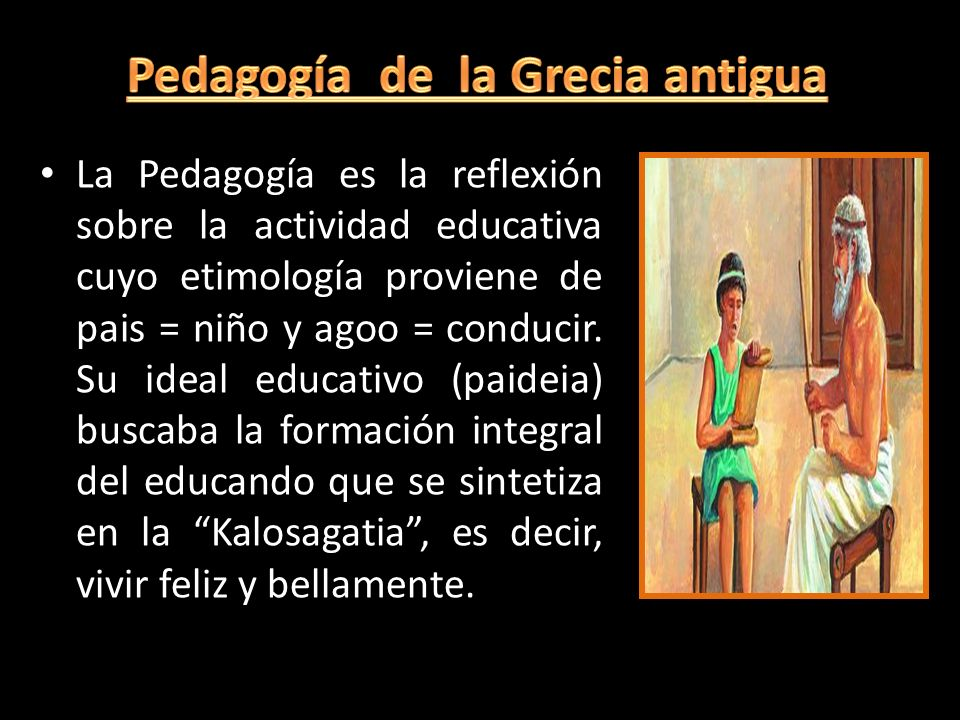 Pedagogía de la Grecia antigua