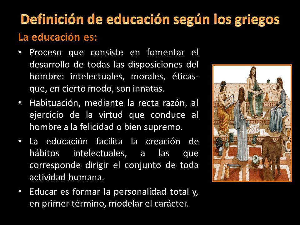 Definición de educación según los griegos