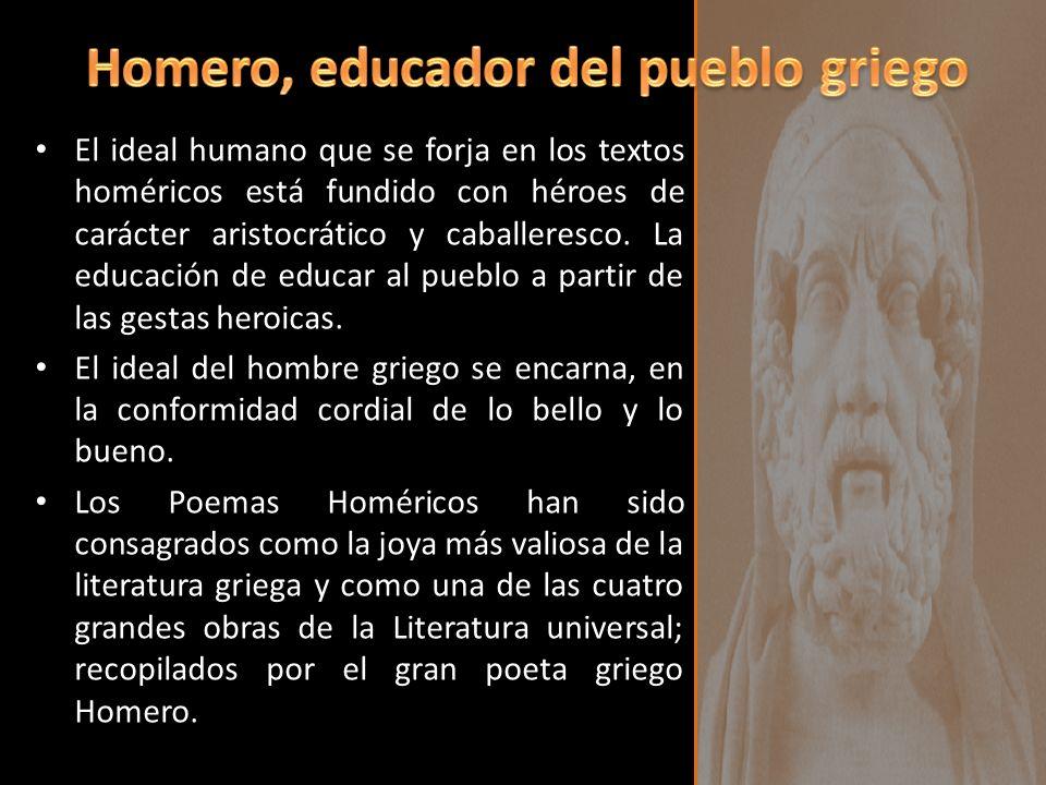Homero, educador del pueblo griego
