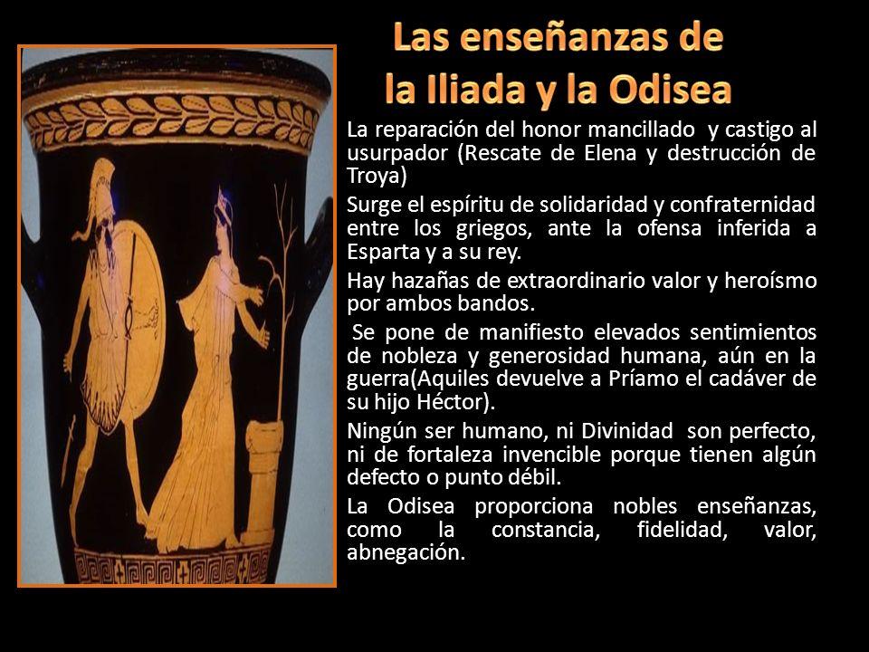 Las enseñanzas de la Iliada y la Odisea
