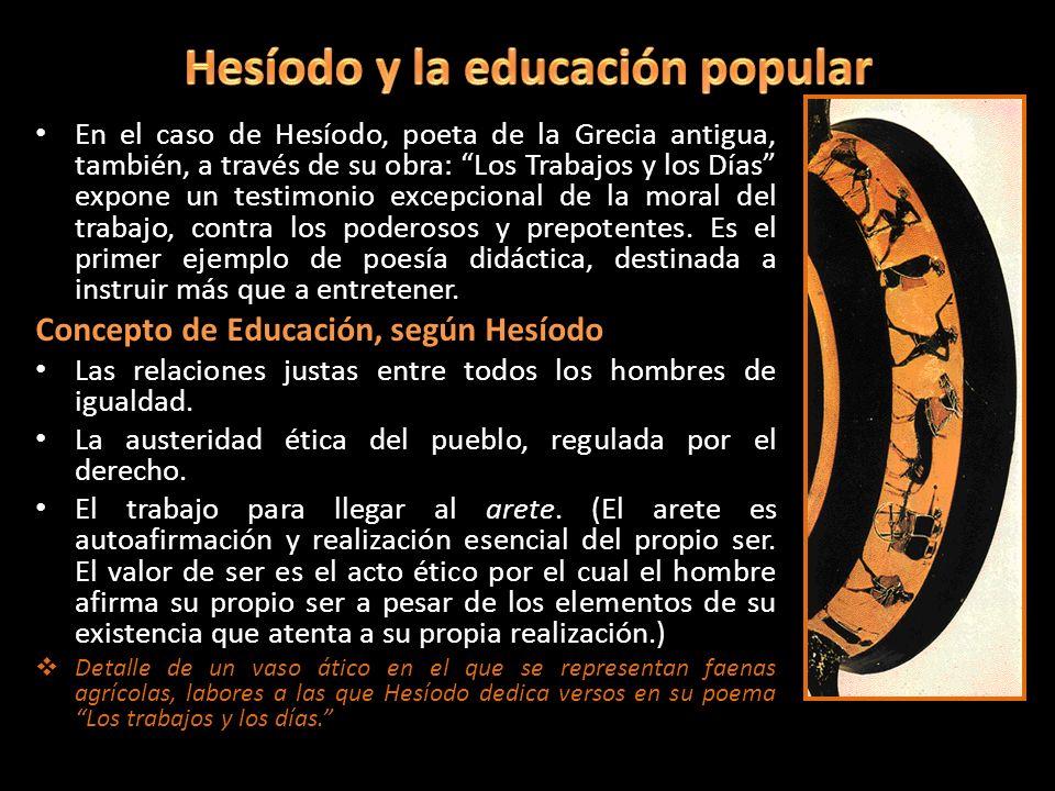 Hesíodo y la educación popular