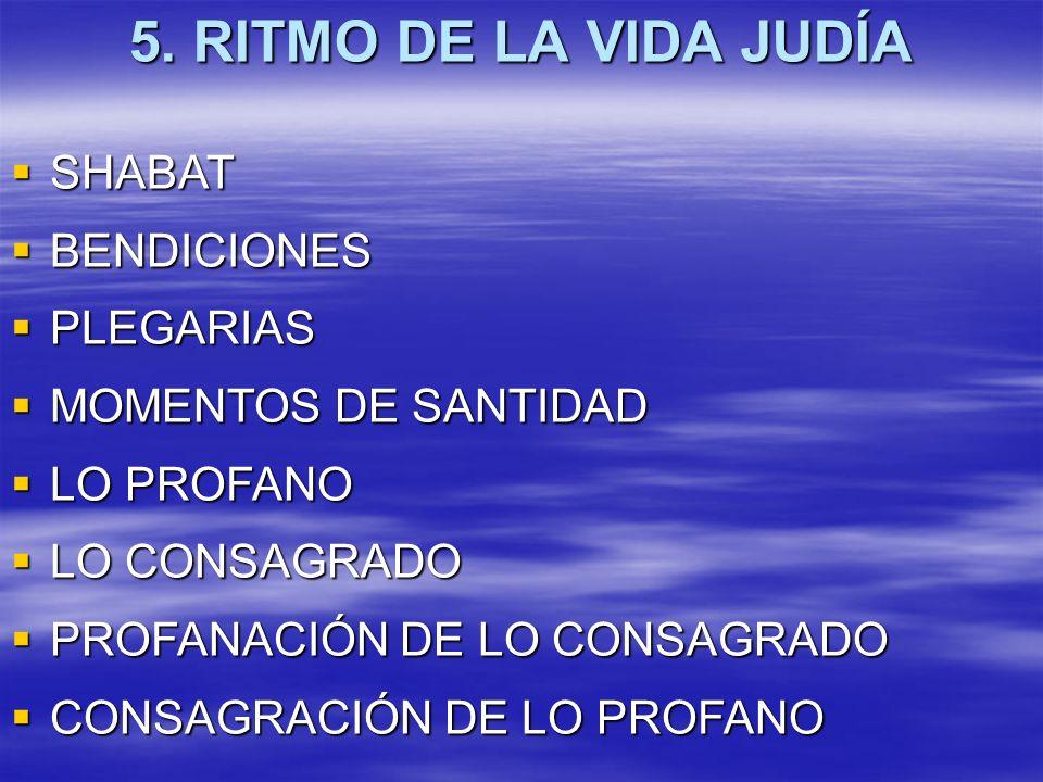5. RITMO DE LA VIDA JUDÍA SHABAT BENDICIONES PLEGARIAS