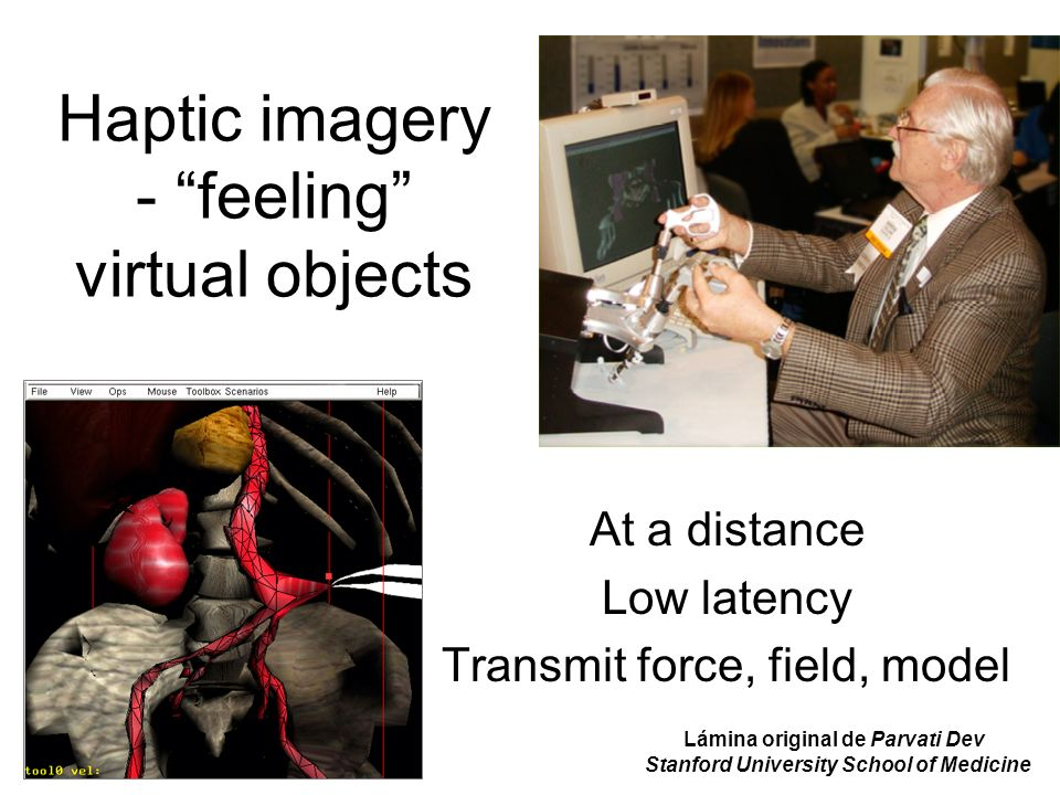 Haptic imagery - feeling virtual objects