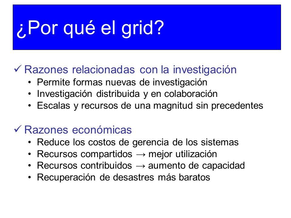 ¿Por qué el grid Razones relacionadas con la investigación