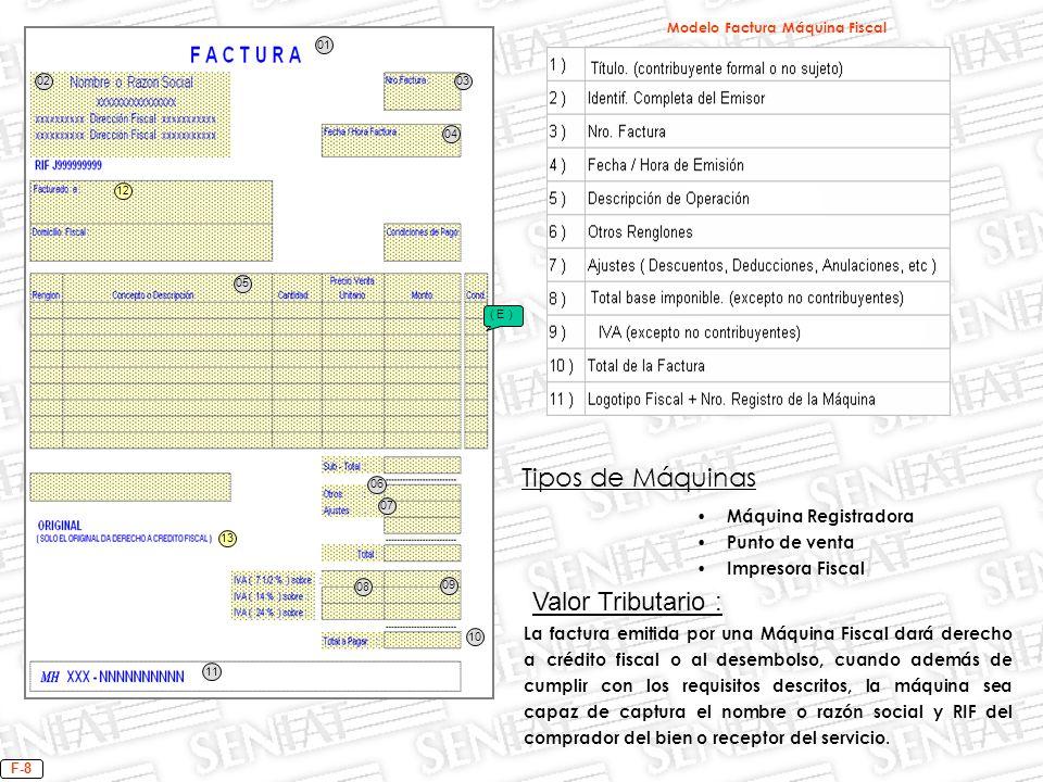 Modelo Factura Máquina Fiscal