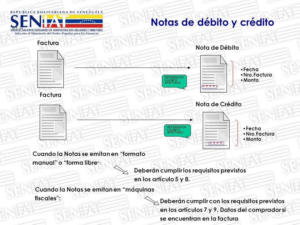 Notas de débito y crédito