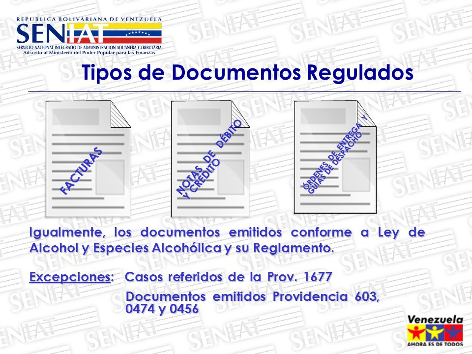 Tipos de Documentos Regulados