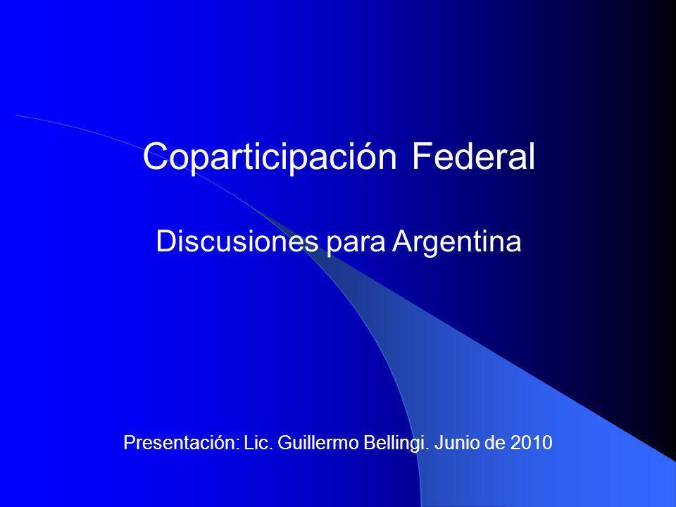Presentación: Lic. Guillermo Bellingi. Junio de 2010