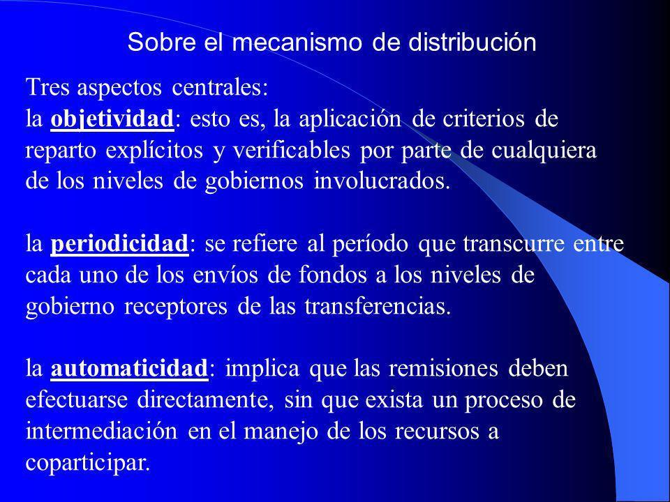 Sobre el mecanismo de distribución