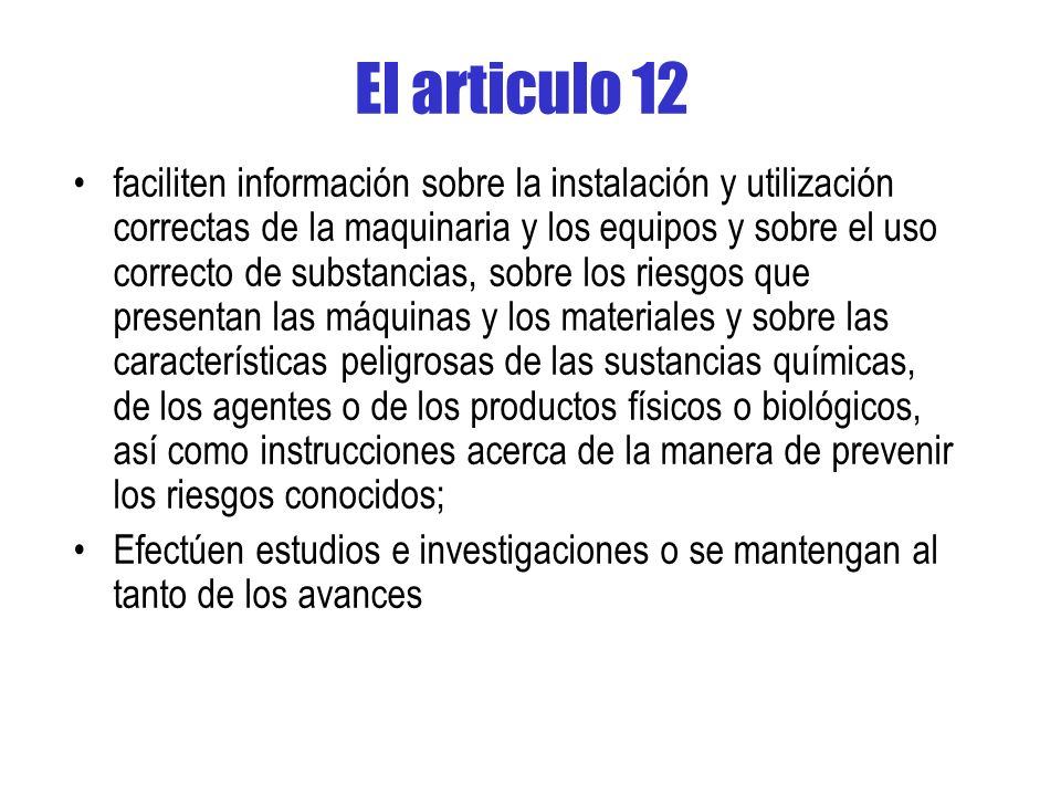 El articulo 12