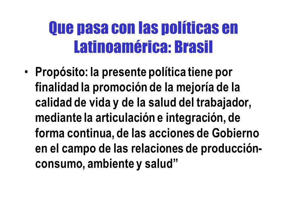 Que pasa con las políticas en Latinoamérica: Brasil