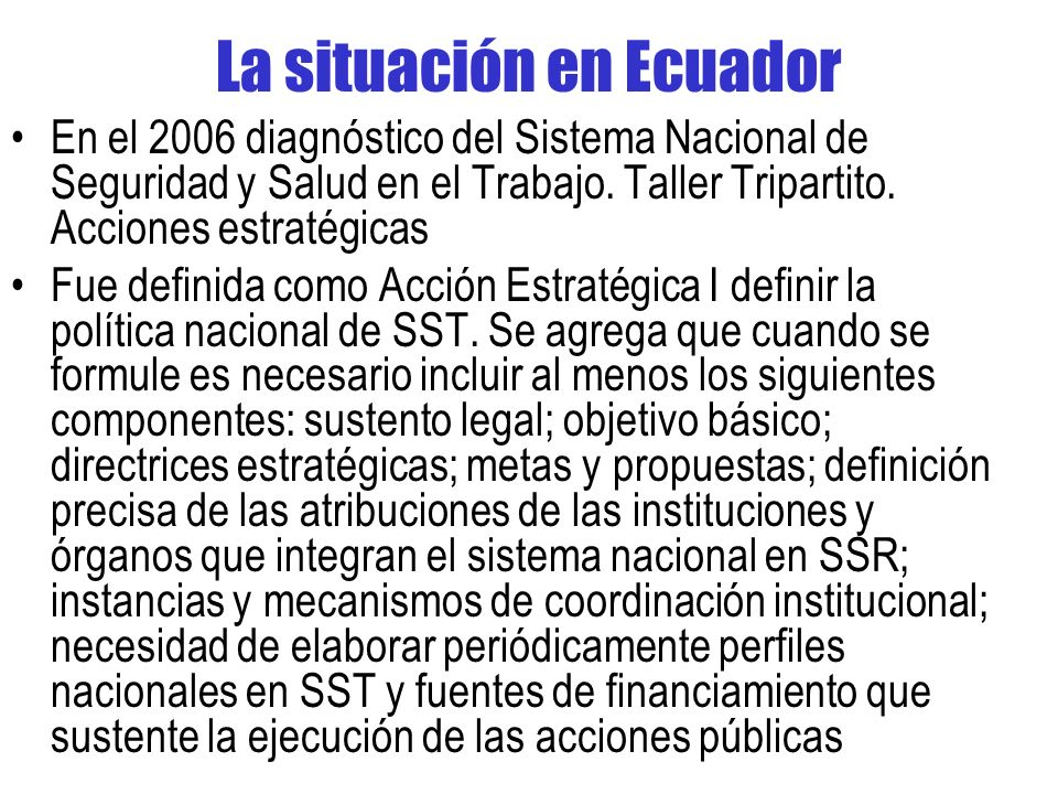 La situación en Ecuador