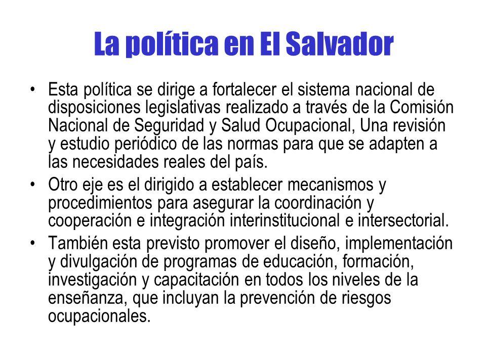 La política en El Salvador