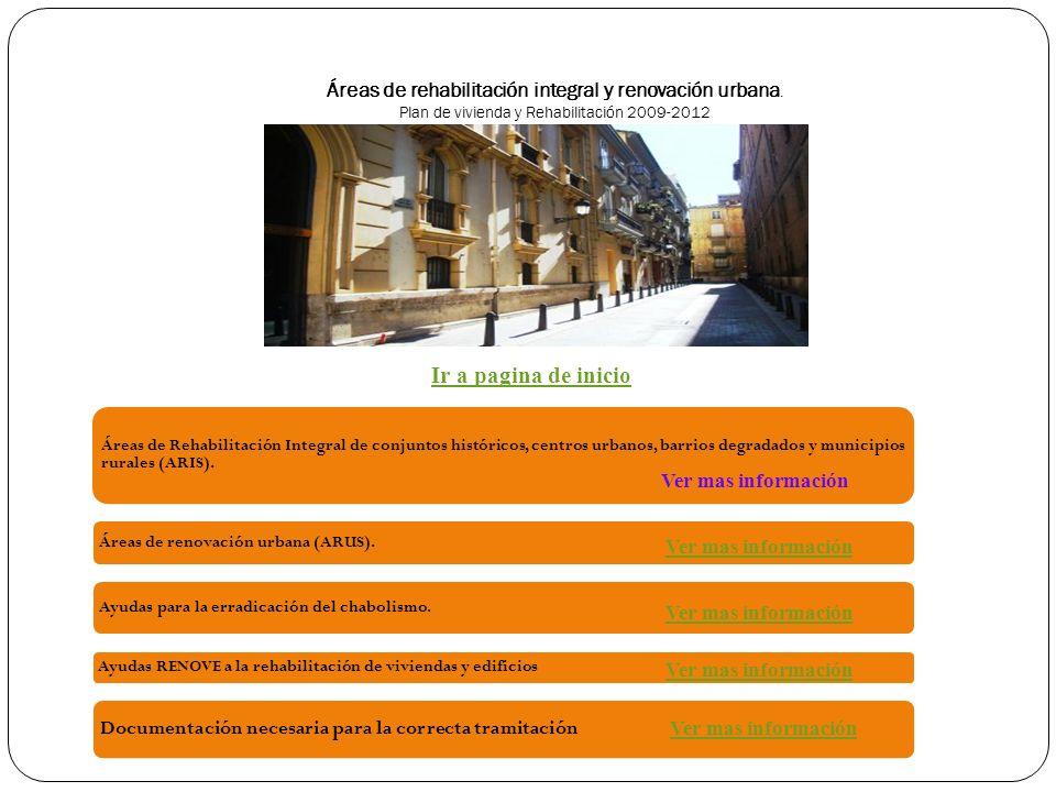 Áreas de rehabilitación integral y renovación urbana