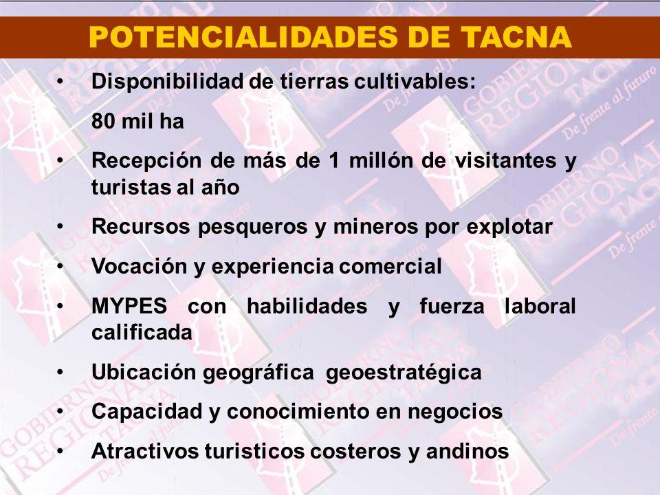 POTENCIALIDADES DE TACNA