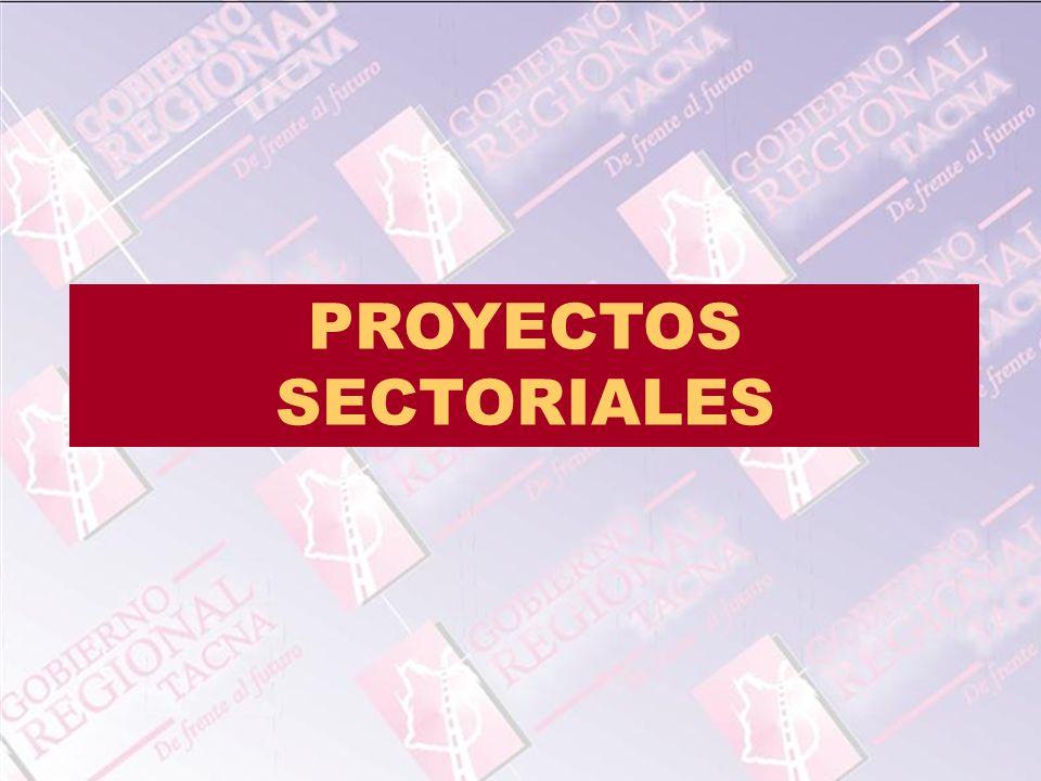 PROYECTOS SECTORIALES