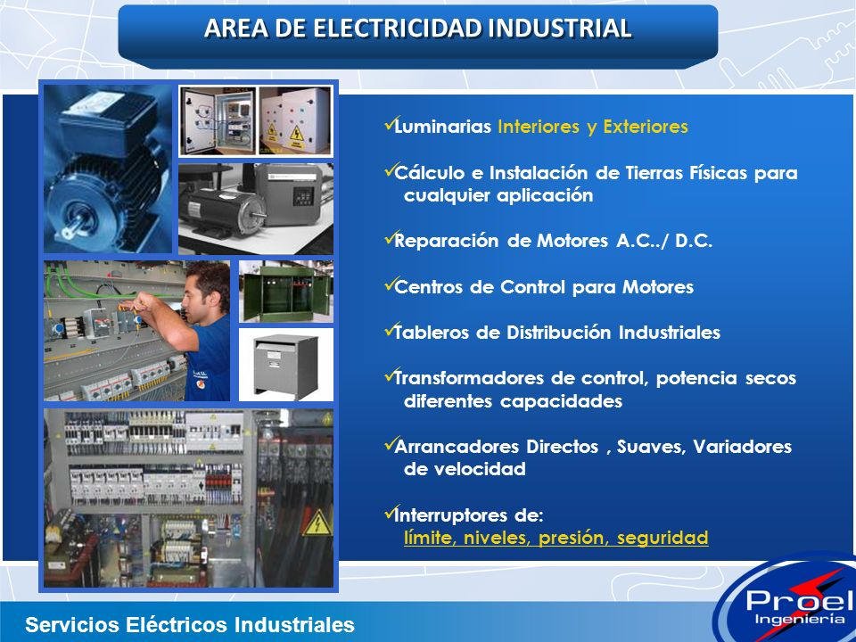AREA DE ELECTRICIDAD INDUSTRIAL