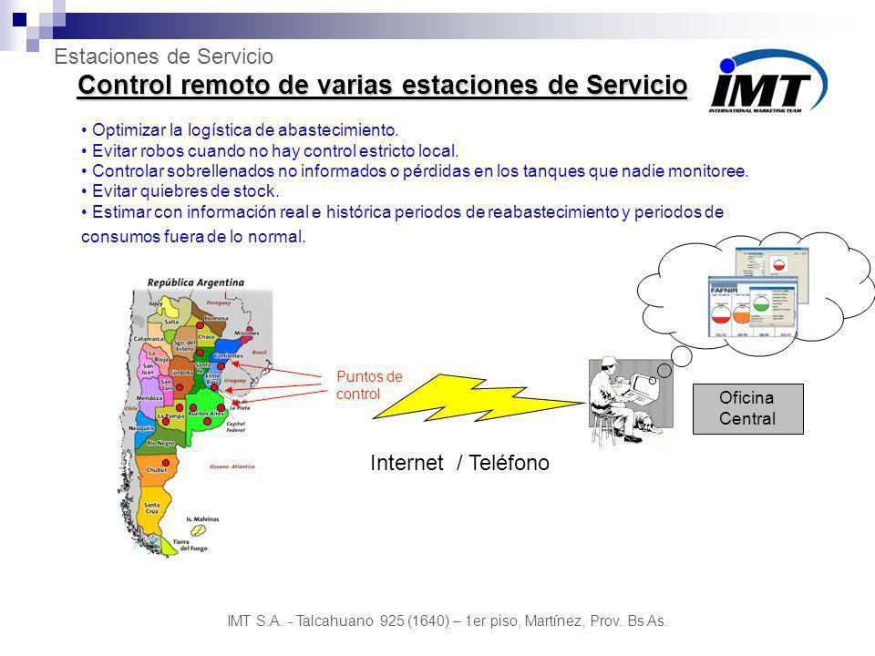 Control remoto de varias estaciones de Servicio