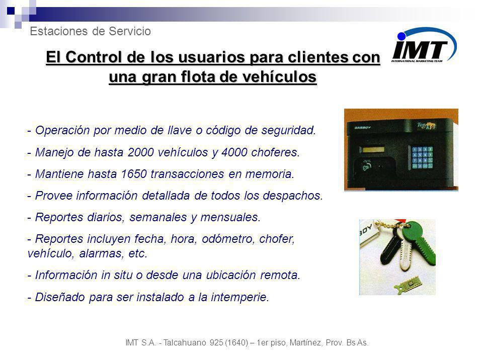 El Control de los usuarios para clientes con una gran flota de vehículos