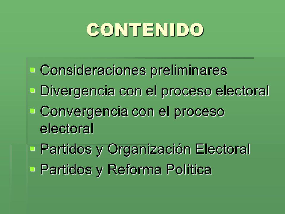 CONTENIDO Consideraciones preliminares