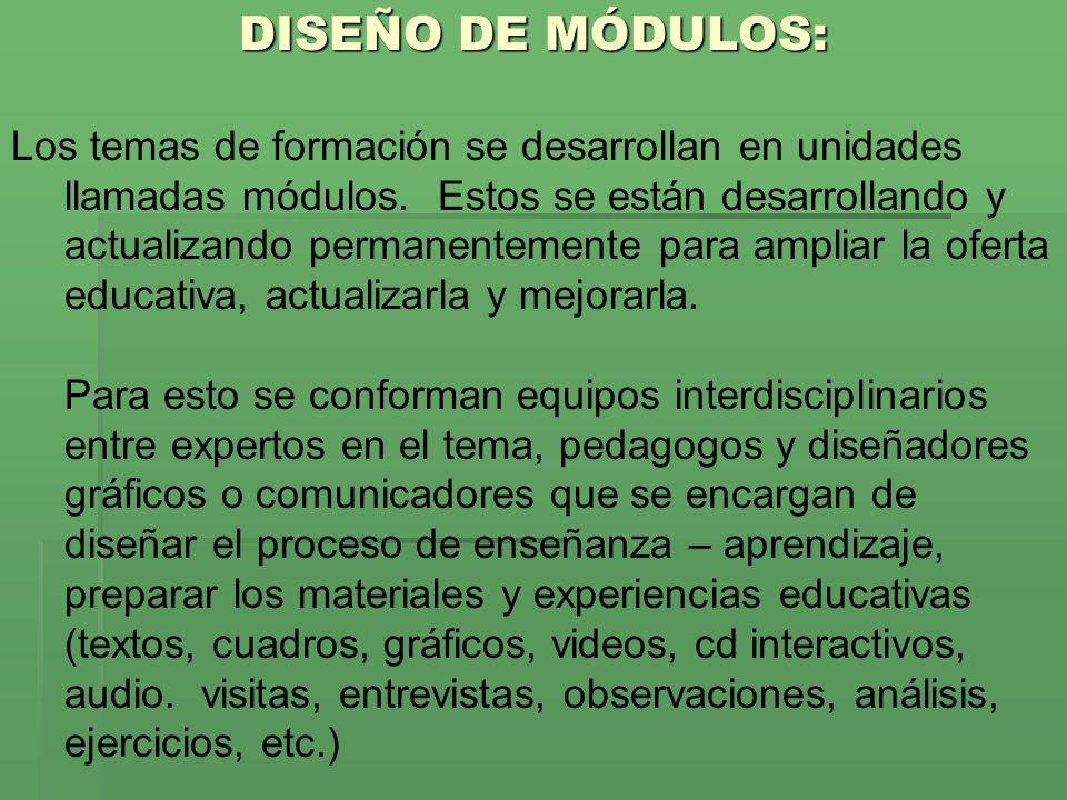 DISEÑO DE MÓDULOS: