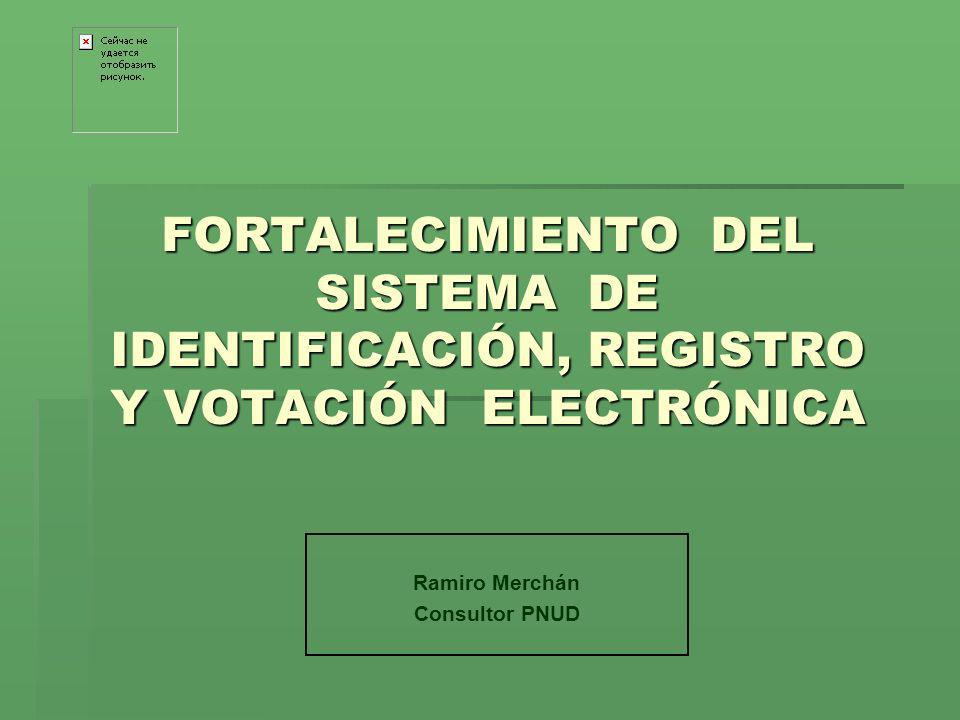 Ramiro Merchán Consultor PNUD
