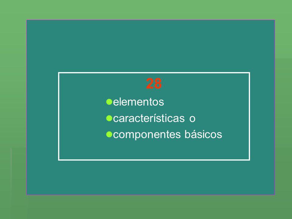 28 elementos características o componentes básicos