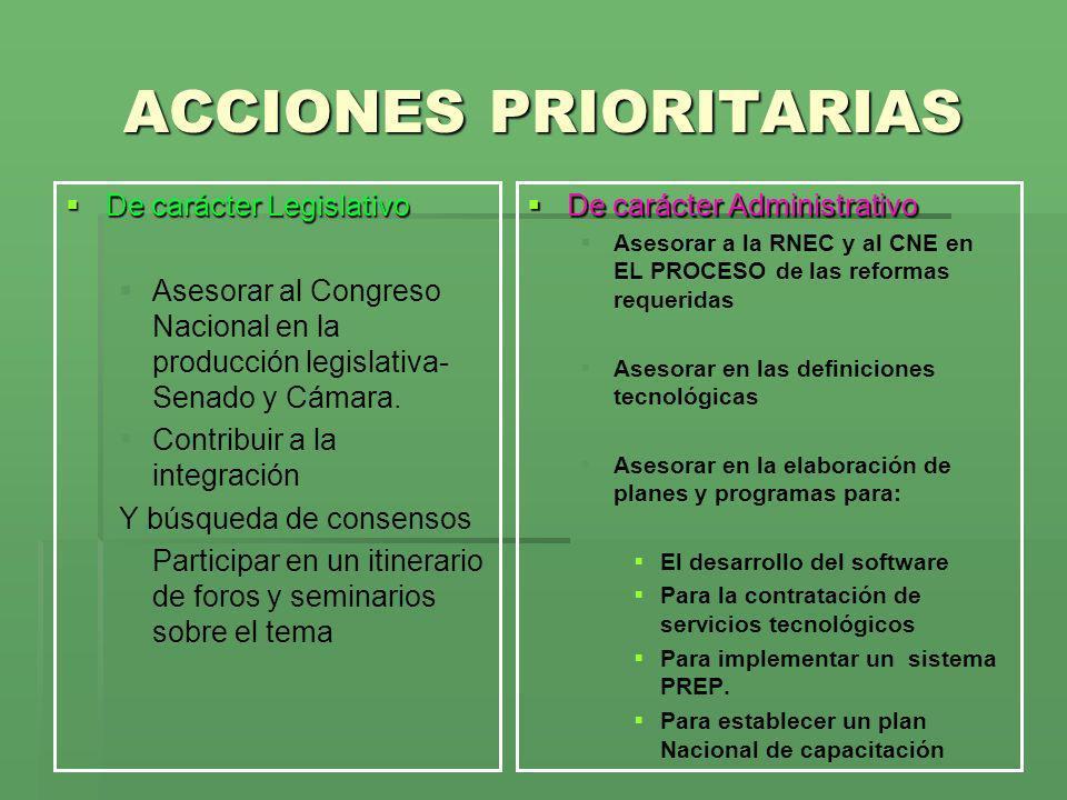 ACCIONES PRIORITARIAS