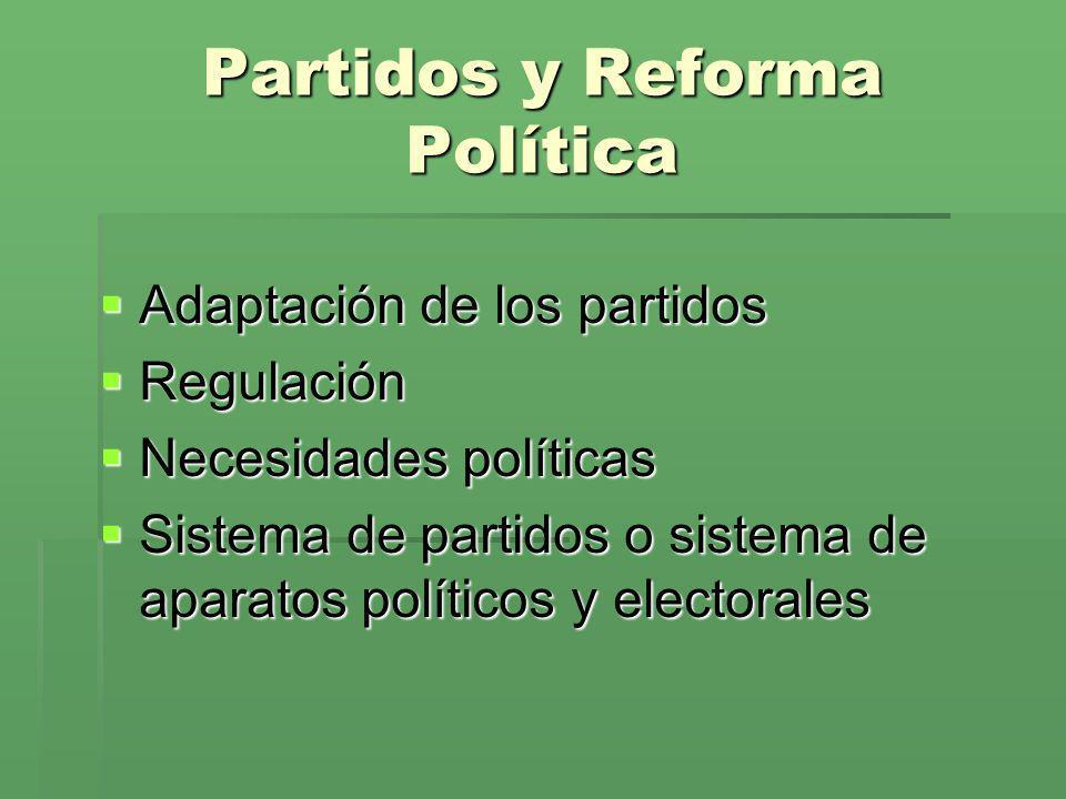 Partidos y Reforma Política