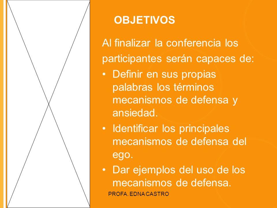 Al finalizar la conferencia los participantes serán capaces de:
