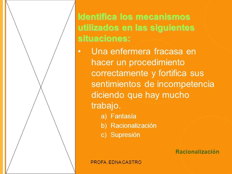 Identifica los mecanismos utilizados en las siguientes situaciones: