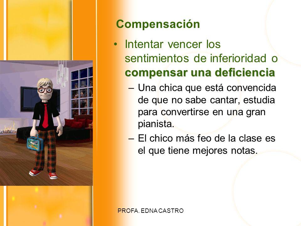 Compensación Intentar vencer los sentimientos de inferioridad o compensar una deficiencia.
