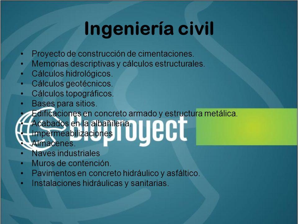 Ingeniería civil Proyecto de construcción de cimentaciones.