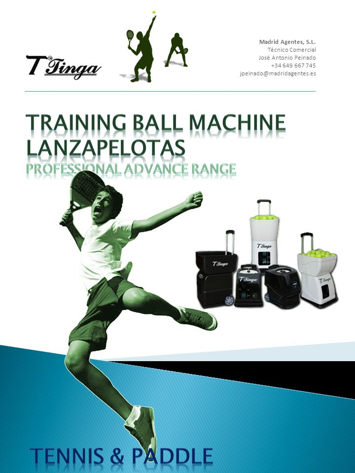 TRAINING BALL MACHINE Lanzapelotas Professional Advance Range