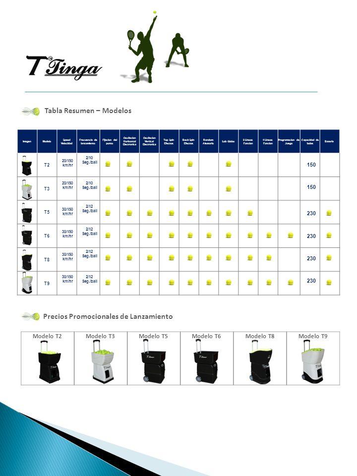 Tabla Resumen – Modelos