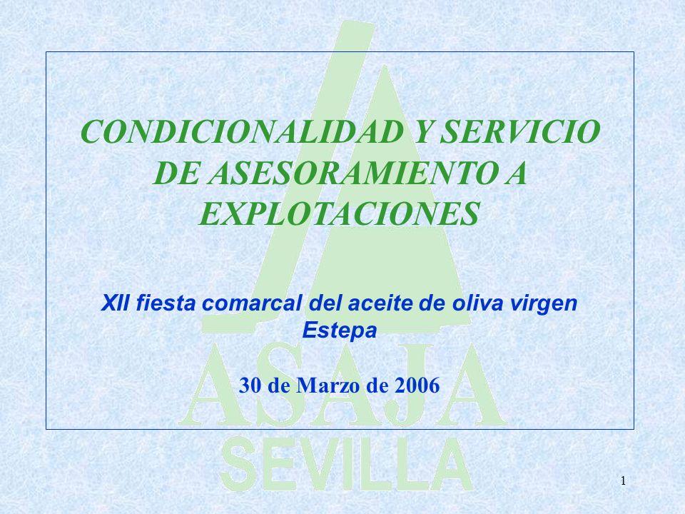 CONDICIONALIDAD Y SERVICIO DE ASESORAMIENTO A EXPLOTACIONES