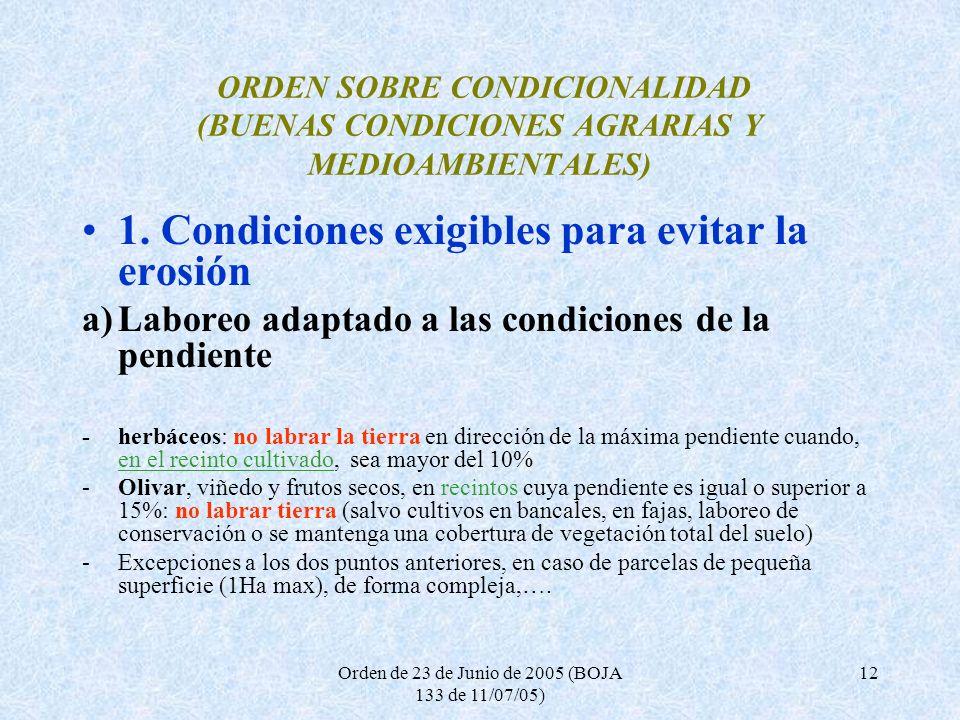 Orden de 23 de Junio de 2005 (BOJA 133 de 11/07/05)