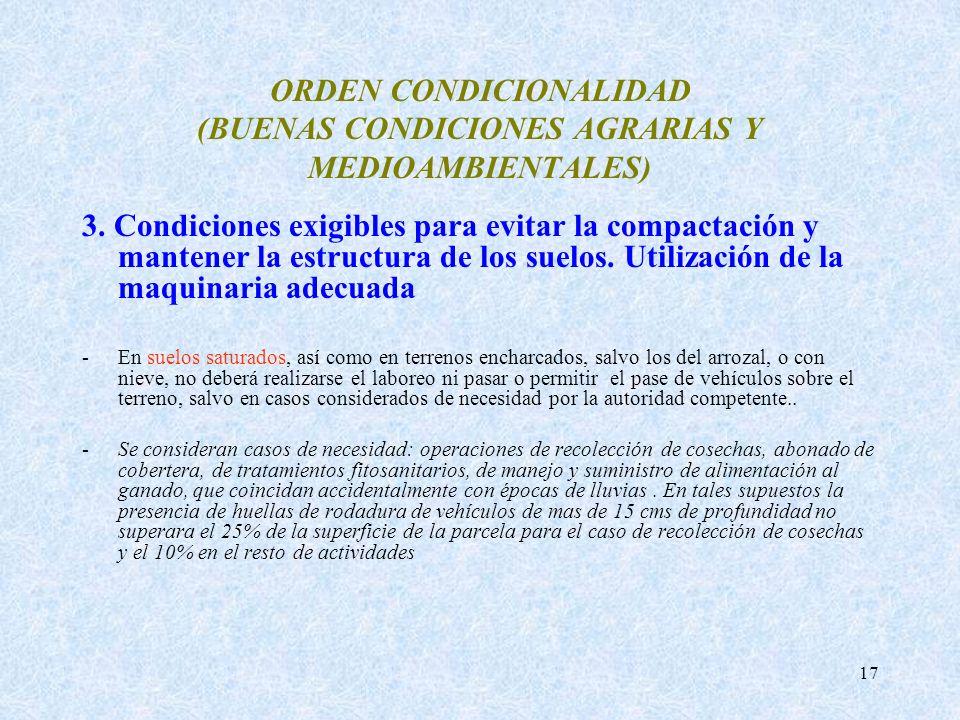 ORDEN CONDICIONALIDAD (BUENAS CONDICIONES AGRARIAS Y MEDIOAMBIENTALES)