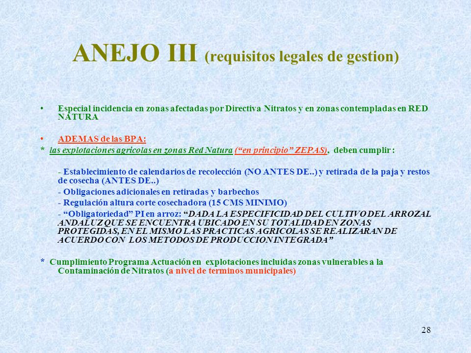 ANEJO III (requisitos legales de gestion)