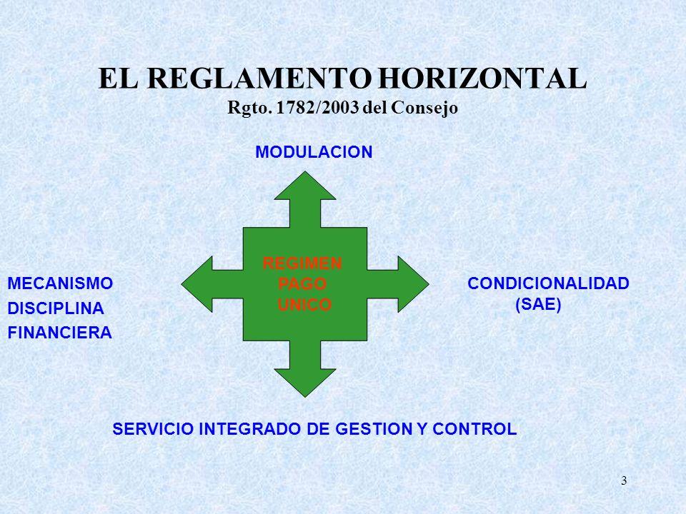 EL REGLAMENTO HORIZONTAL Rgto. 1782/2003 del Consejo