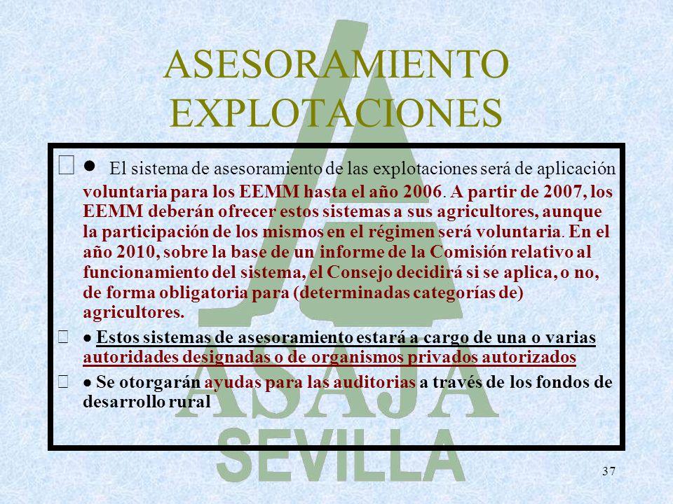 ASESORAMIENTO EXPLOTACIONES
