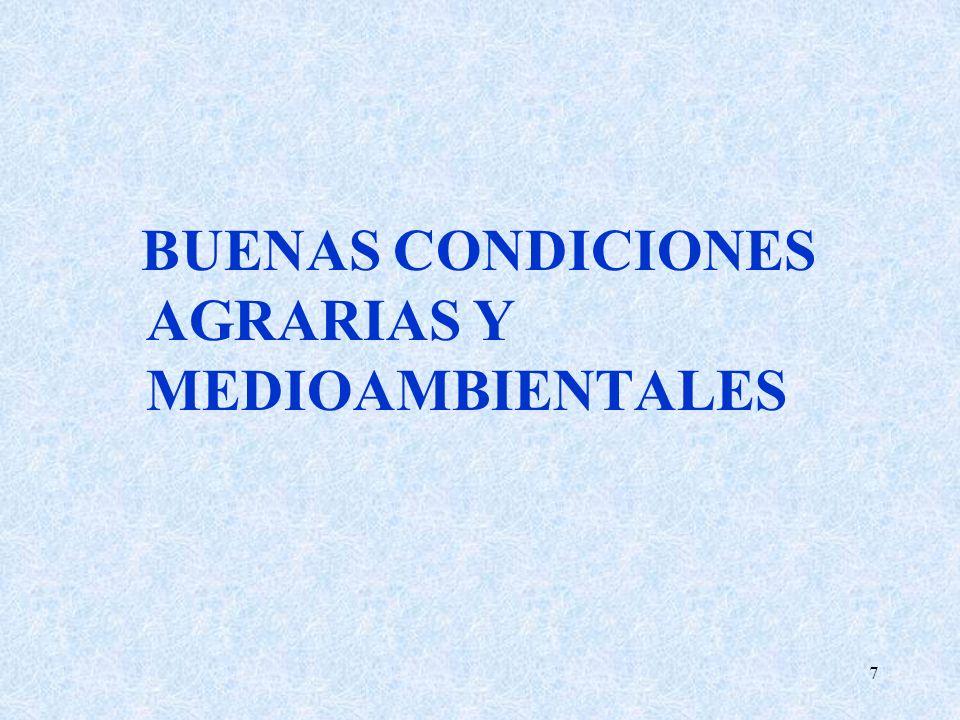 BUENAS CONDICIONES AGRARIAS Y MEDIOAMBIENTALES