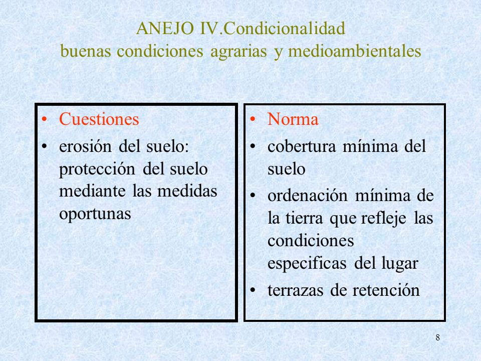 ANEJO IV.Condicionalidad buenas condiciones agrarias y medioambientales