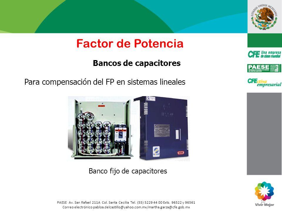 Banco fijo de capacitores