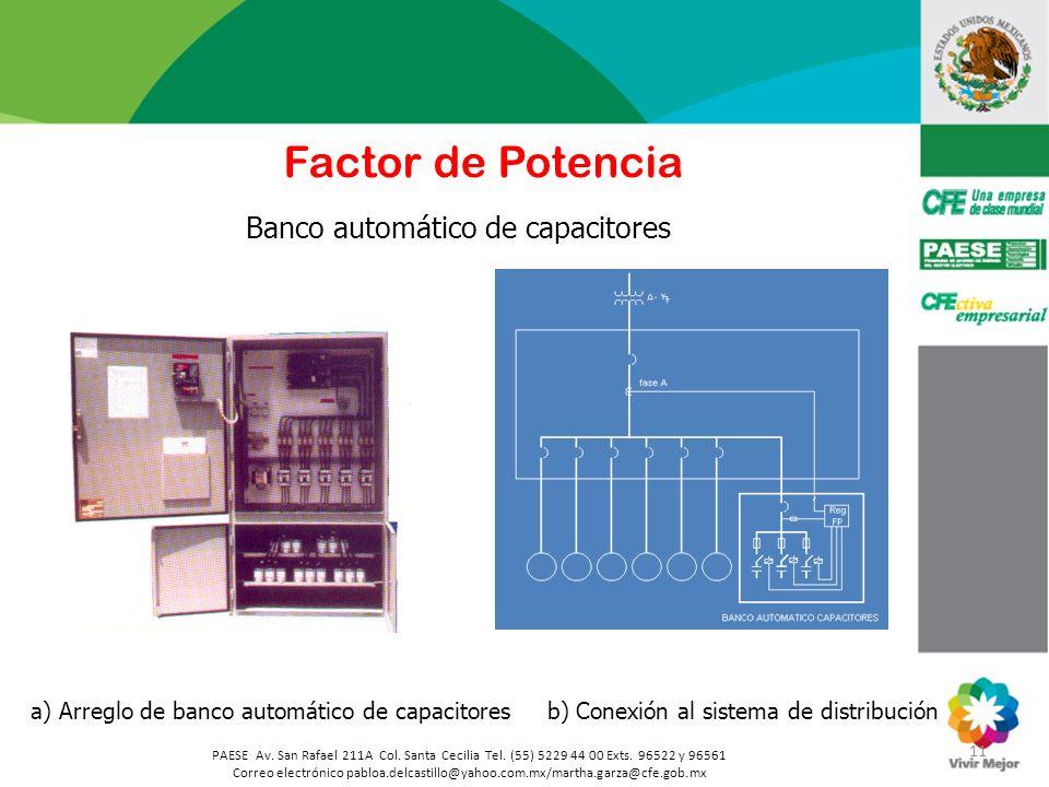 Factor de Potencia Banco automático de capacitores