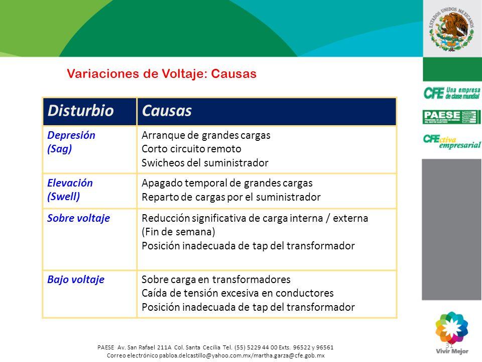 Variaciones de Voltaje: Causas