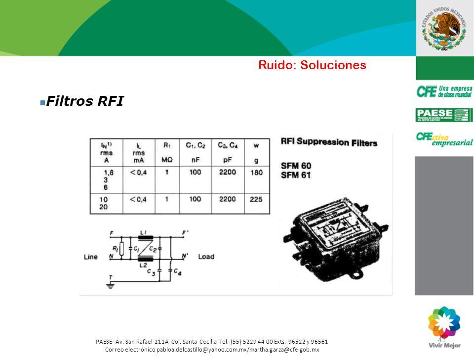 Filtros RFI Ruido: Soluciones 41