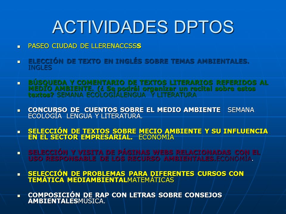 ACTIVIDADES DPTOS PASEO CIUDAD DE LLERENACCSSS