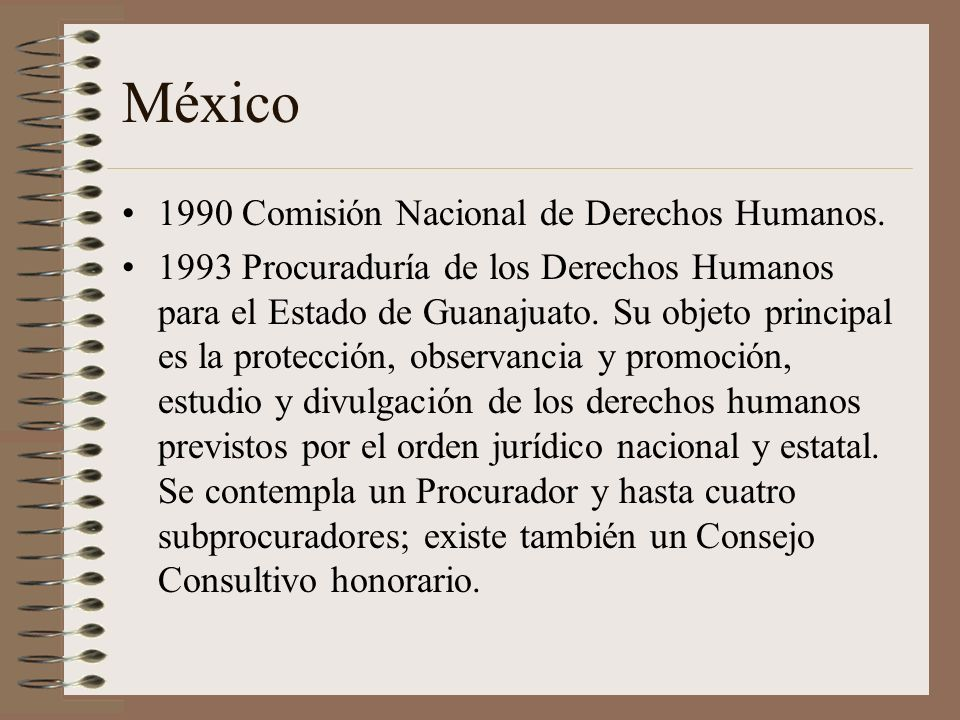 México 1990 Comisión Nacional de Derechos Humanos.